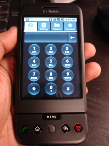 G1 dialer