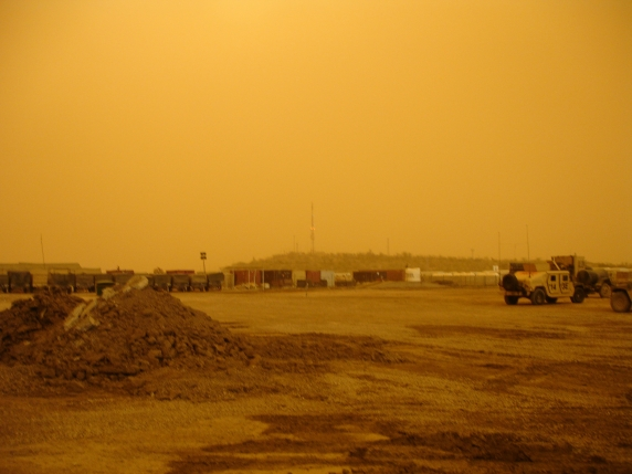 Sandstorm at the Motorpool