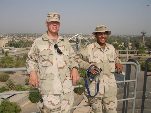 SGT Dahlseid and I over Baghdad