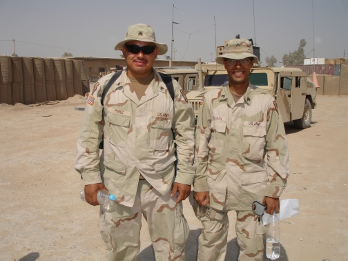 SGT Perez and I in Ramadi