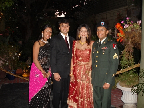 Keerthi, Dipu Cheta, Simi Chechi, and I