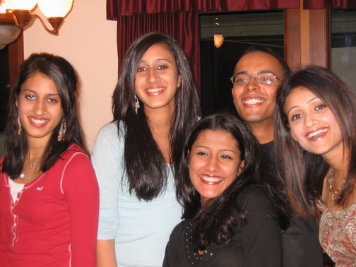 Maya, Priya, Keerthi, Simi Chechi, and I
