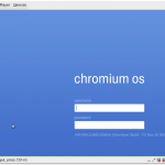 ChromeOS Login Screen