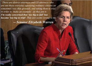 Senator Elizabeth Warren at the Banking Committee Hearing