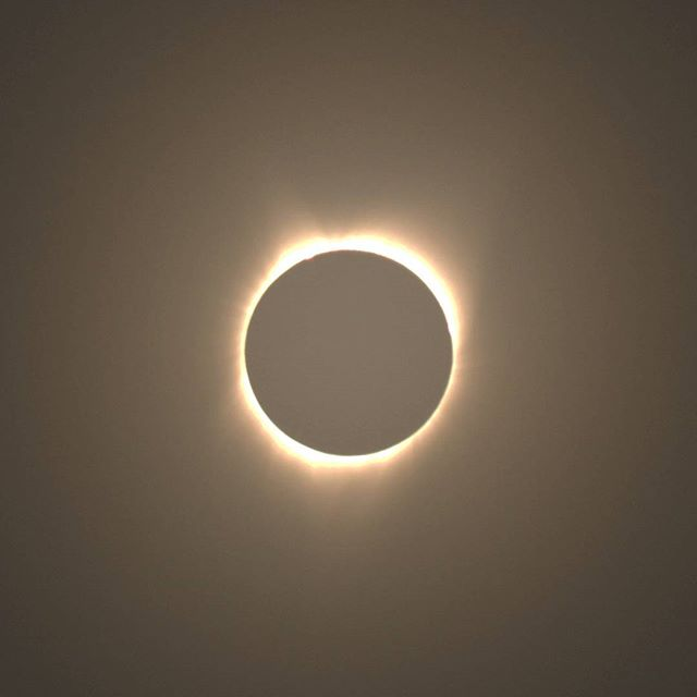 Shot of the #totality. It was really foggy in Lincoln City and so it wasn't so clear. I got myself a filter and some other accessories to be able to take a good picture of the #eclipse. The original shot wasn't as good as I liked and I had to post-process. But I didn't want to spend too much time messing with the camera and miss the totality itself.  #eclipse2017 #photography #photographer #amateurphotographer #amateurphotography #eclipsephoto #eclipsephotography