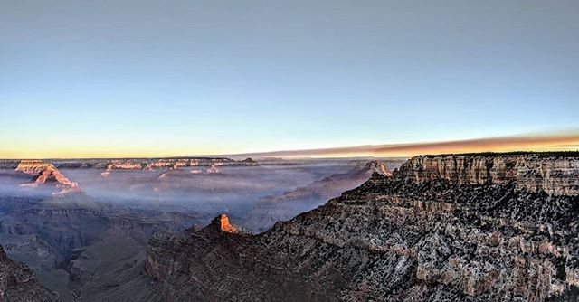 A little after sunrise at the Grand Canyon. Shot from the South Rim.  #panorama #grandcanyon #arizona #az #sunrise #dawn #amateurphotographer #amateurphotography #landscapephotography #landscape #nature #naturephotography #nationalparks #photographer #photography #pictureoftheday #picoftheday #pixel2xl #pixel2xlphotography #travel #travelphotography
