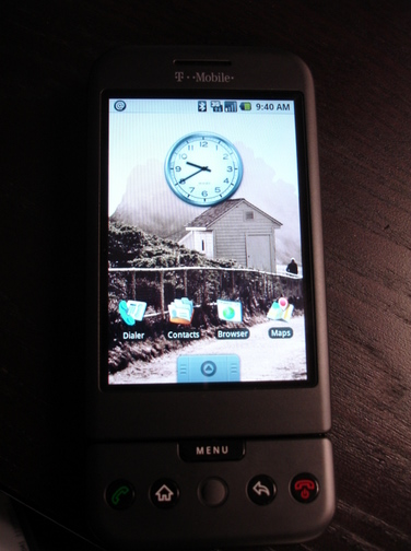 G1 home screen