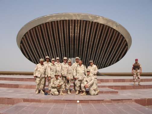 Group at the tomb