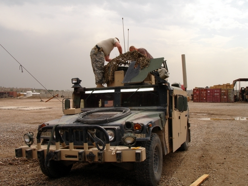Camouflage Humvee Cover