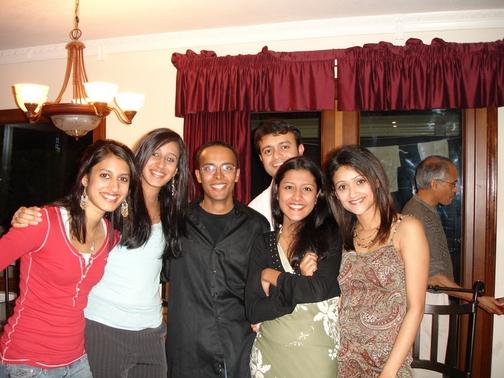Maya, Priya, Dipu Cheta, Keerthi, Simi Chechi, and I