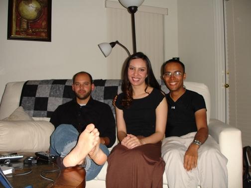 Michael, Naima, and I