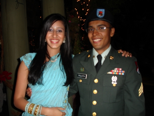 Priya and I